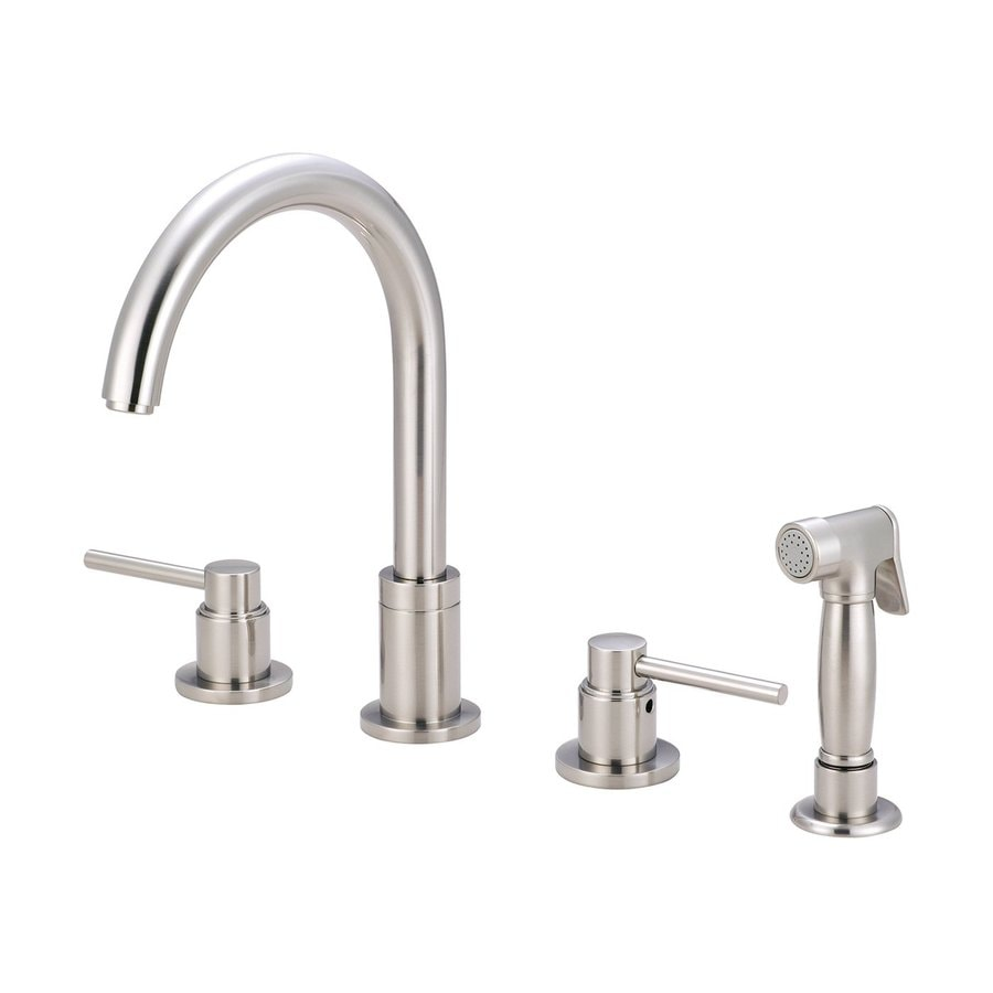 Pioneer Industries Motegi Brushed Nickel 2-Handle High-Arc Kitchen Faucet with Side Spray