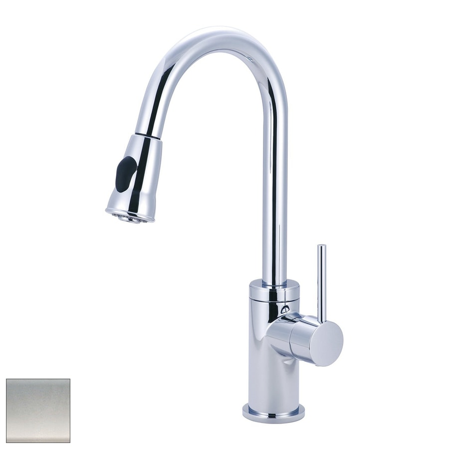Polished Nickel Kitchen Faucet Shop Pioneer Industries Motegi Polished Nickel 1 Handle Pull Down
