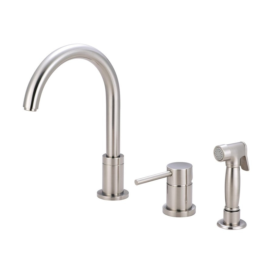Pioneer Industries Motegi Brushed Nickel 1-Handle High-Arc Kitchen Faucet
