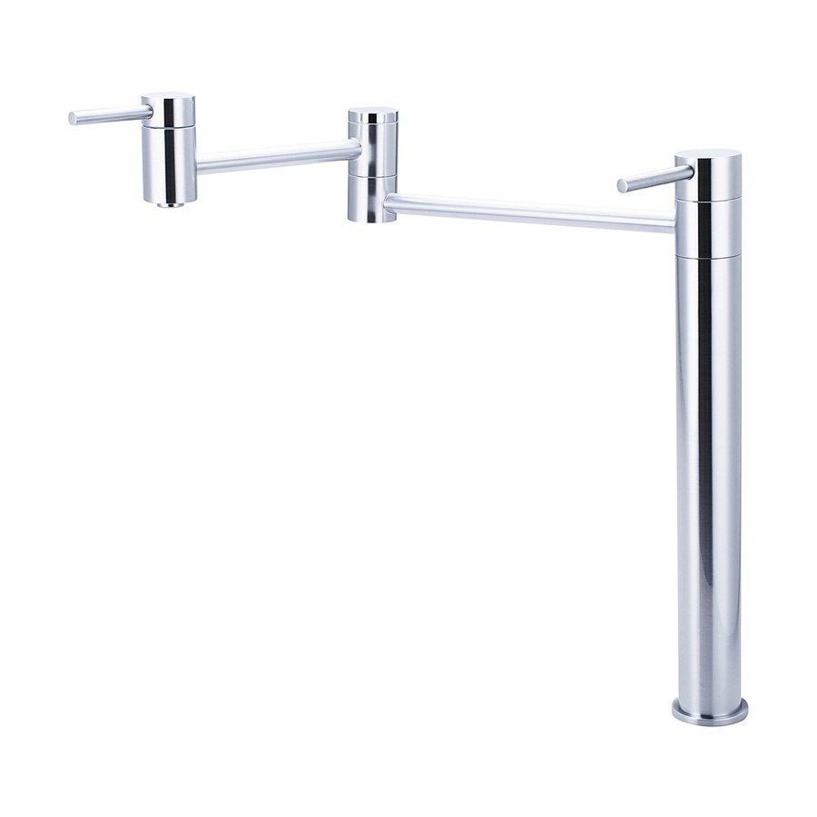 Pioneer Industries Motegi Stainless Steel 2-Handle Pot Filler Mount Kitchen Faucet