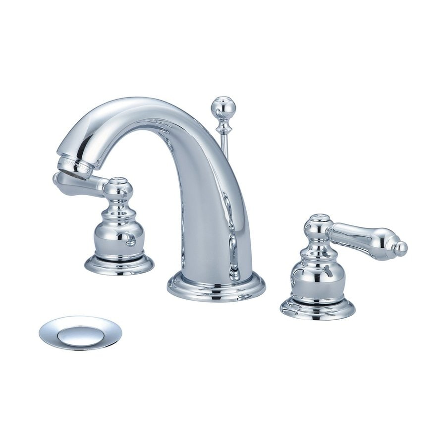Shop Pioneer Industries Brentwood Polished Chrome 2 Handle Widespread Commercial Bathroom Sink