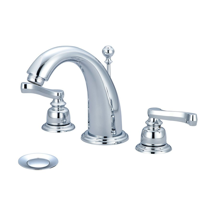 Pioneer Industries Brentwood Polished Chrome 2-Handle Widespread WaterSense Bathroom Faucet (Drain Included)