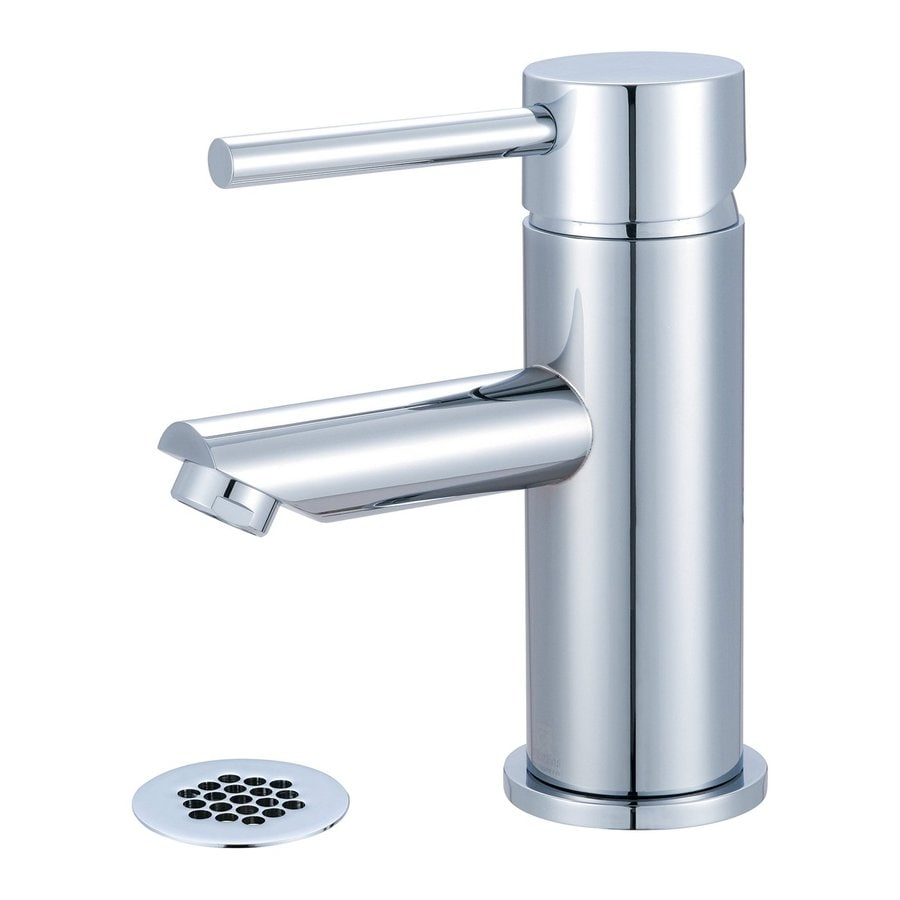 Pioneer Industries Motegi Polished Chrome 1-Handle Single Hole WaterSense Bathroom Faucet (Drain Included)