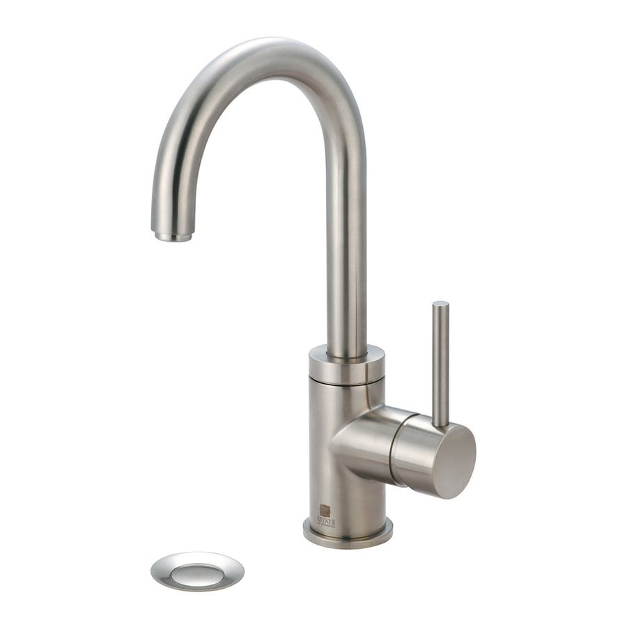 Pioneer Industries Motegi Brushed Nickel 1-Handle Single Hole WaterSense Bathroom Faucet (Drain Included)