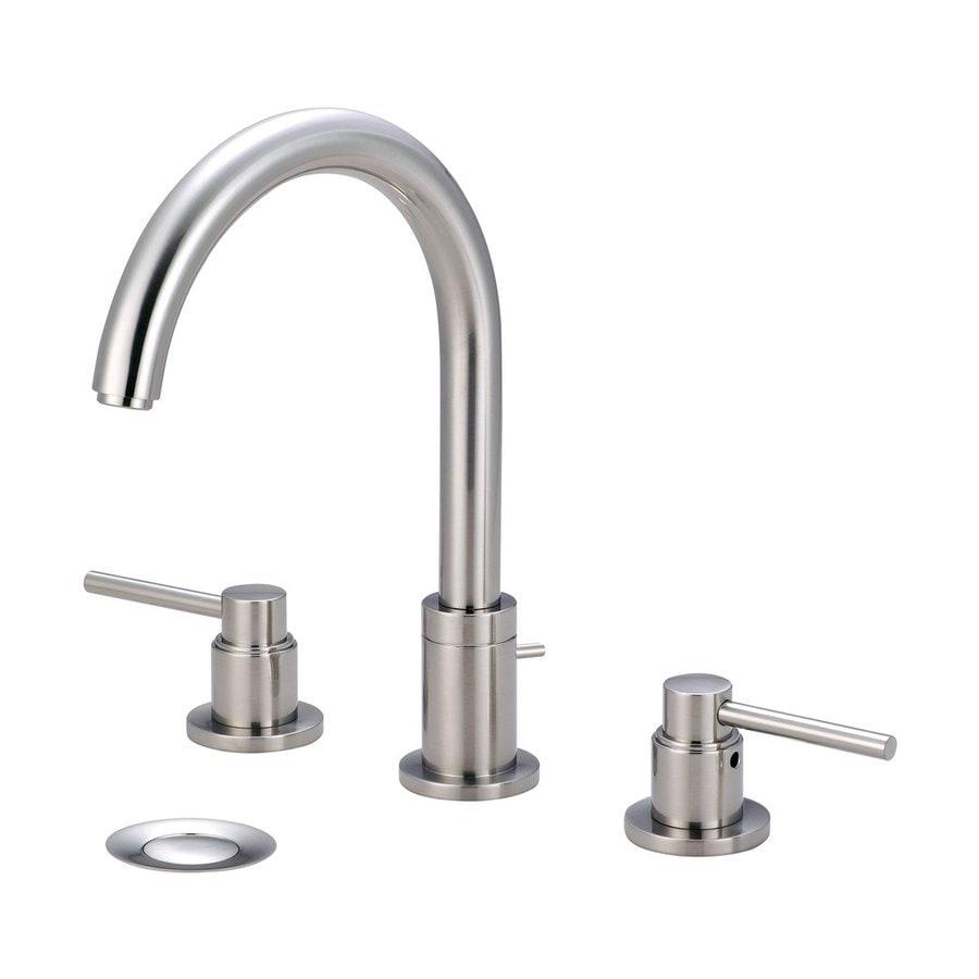 Pioneer Industries Motegi Brushed Nickel 2-Handle Widespread WaterSense Bathroom Faucet (Drain Included)