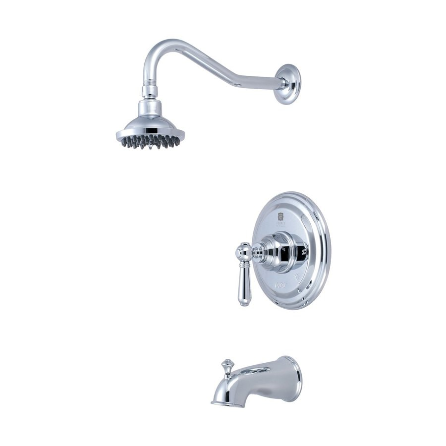 Pioneer Industries Americana Polished Chrome 1-Handle WaterSense Bathtub and Shower Faucet Trim Kit with Single Function Showerhead