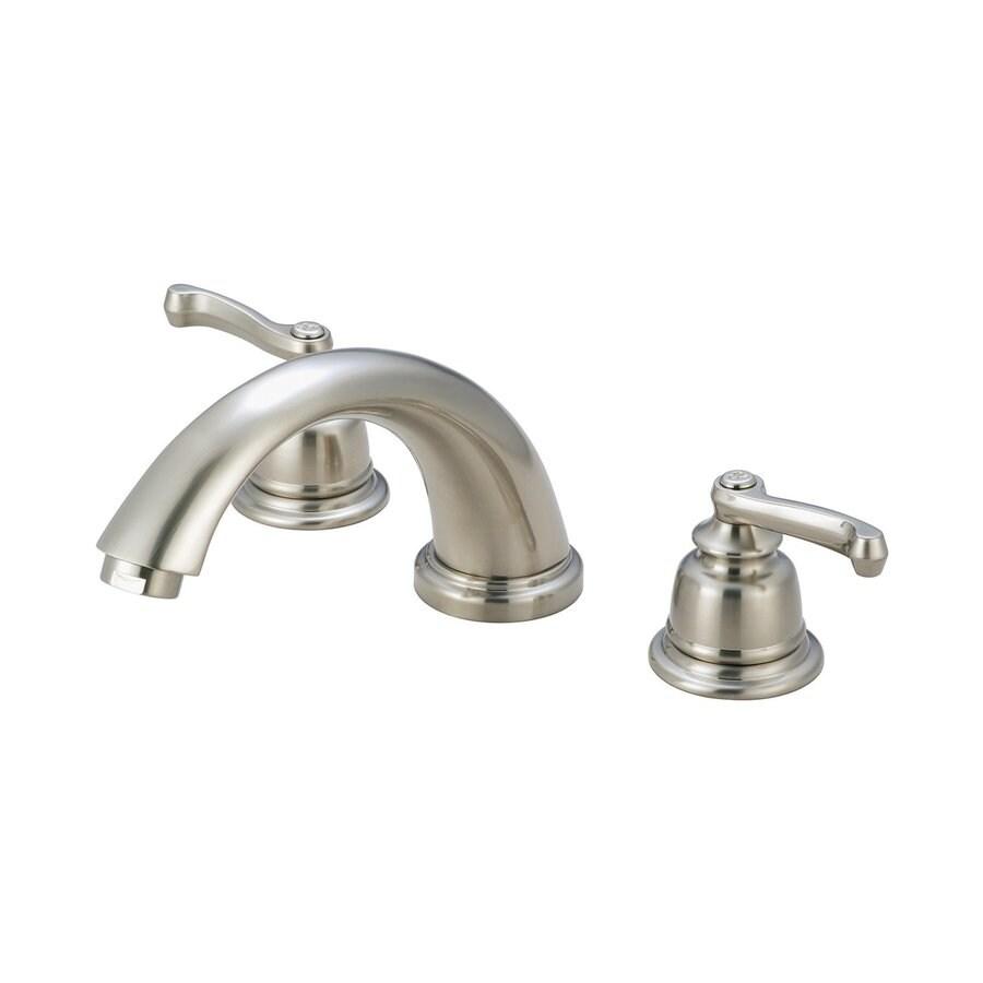 Pioneer Industries Brentwood Brushed Nickel 2-Handle Adjustable Deck Mount Bathtub Faucet