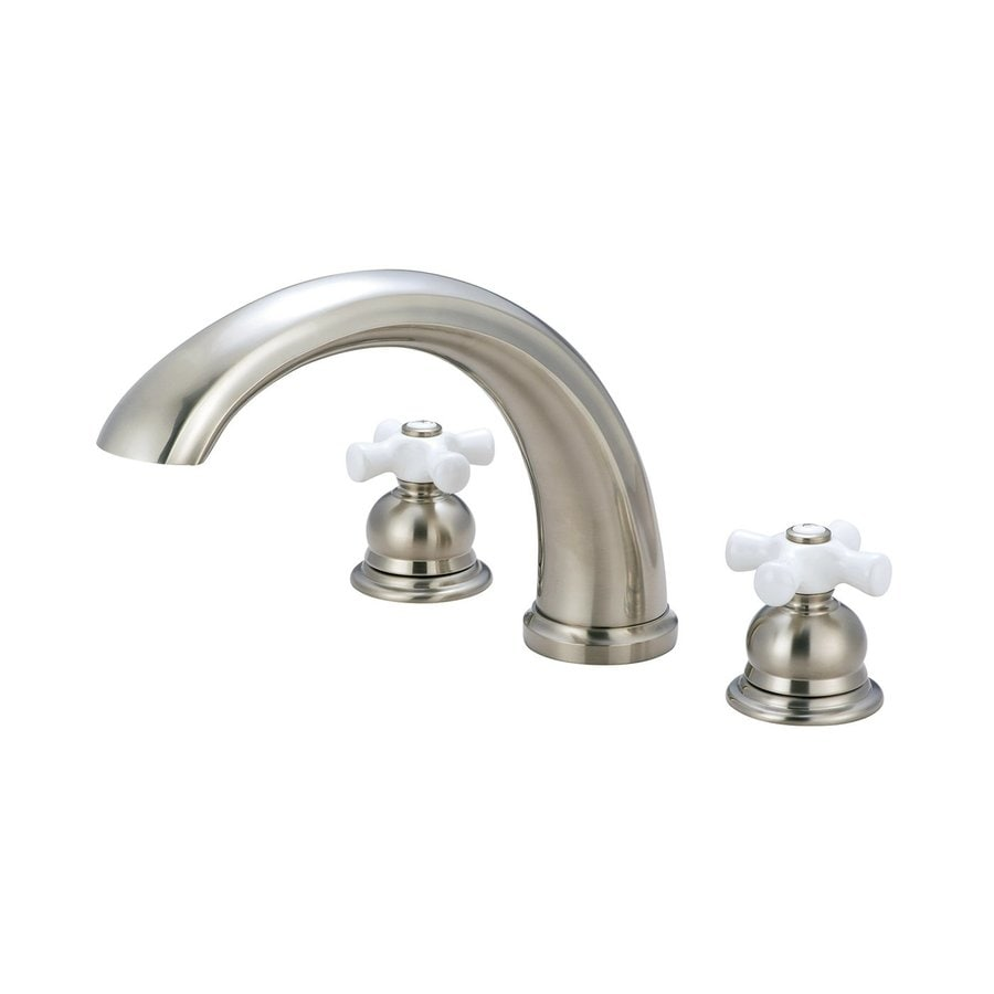 Pioneer Industries Brentwood Brushed Nickel 2-Handle Adjustable Deck Mount Bathtub Faucet