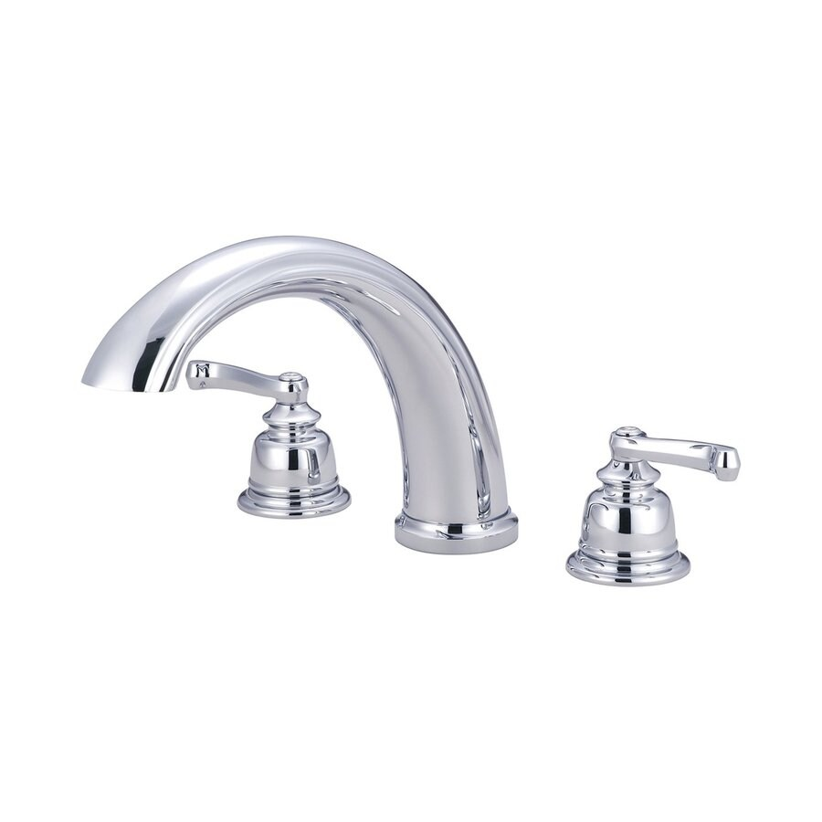 Pioneer Industries Brentwood Polished Chrome 2-Handle Adjustable Deck Mount Bathtub Faucet