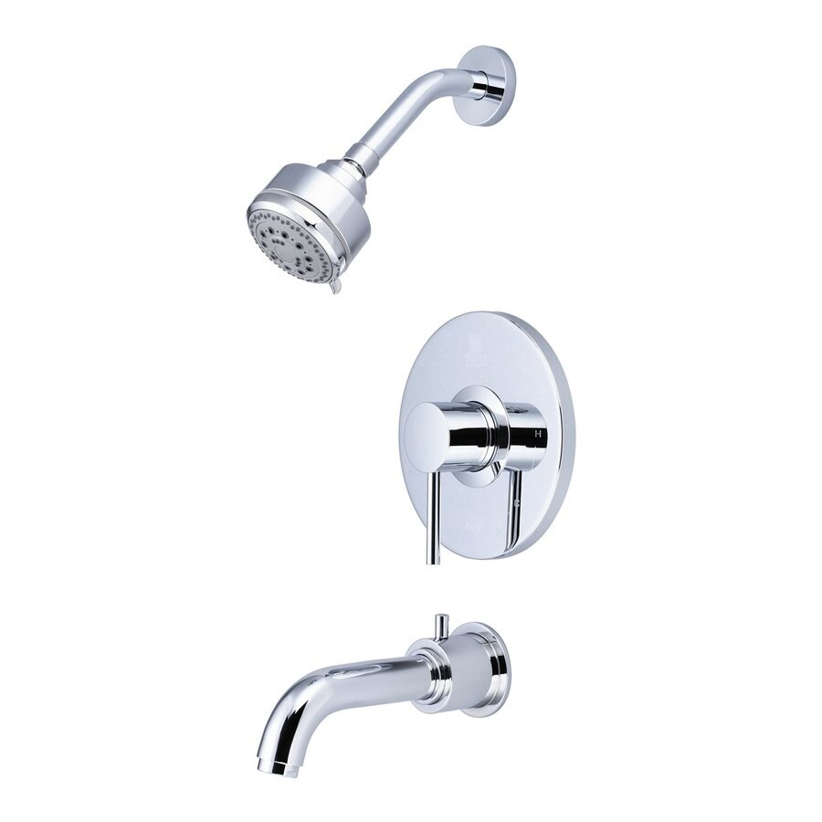 Pioneer Industries Motegi Polished Chrome 1-Handle WaterSense Bathtub and Shower Faucet Trim Kit with Multi-Function Showerhead