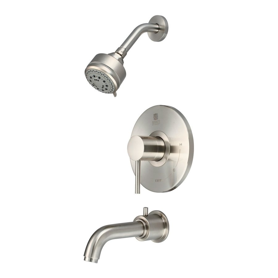 Pioneer Industries Motegi Brushed Nickel 1-Handle WaterSense Bathtub and Shower Faucet Trim Kit with Multi-Function Showerhead