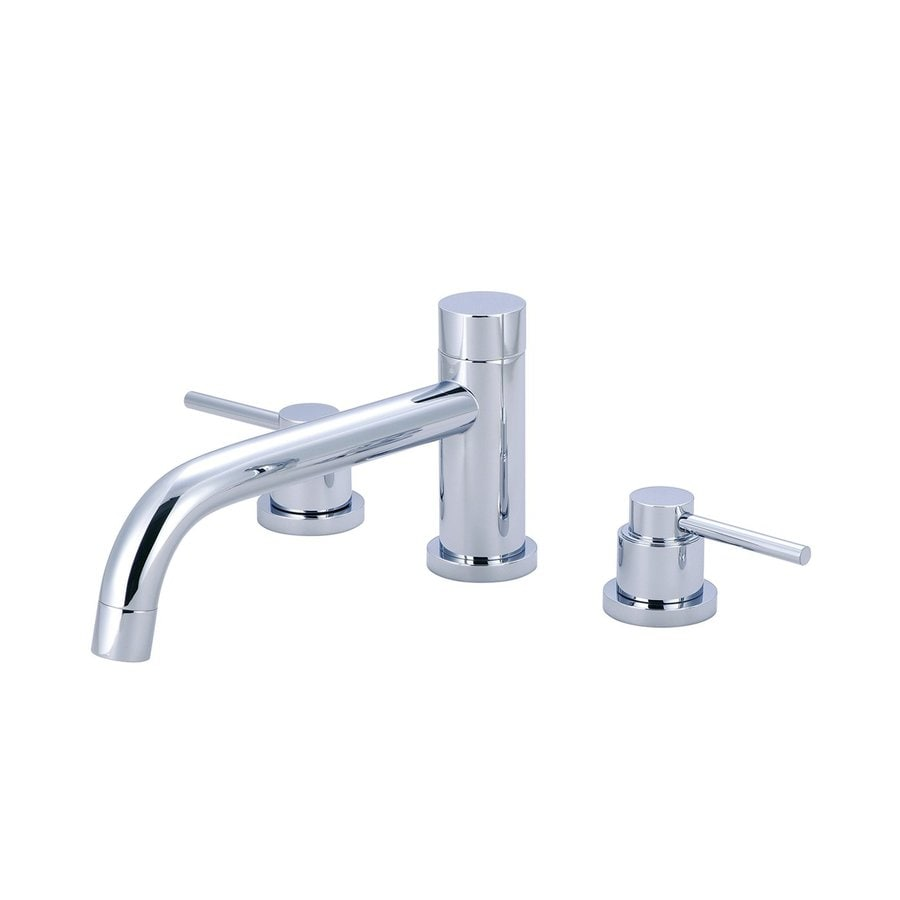 Pioneer Industries Motegi Polished Chrome 2-Handle Adjustable Deck Mount Bathtub Faucet