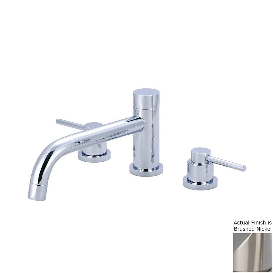 Pioneer Industries Motegi Brushed Nickel 2-Handle Adjustable Deck Mount Bathtub Faucet