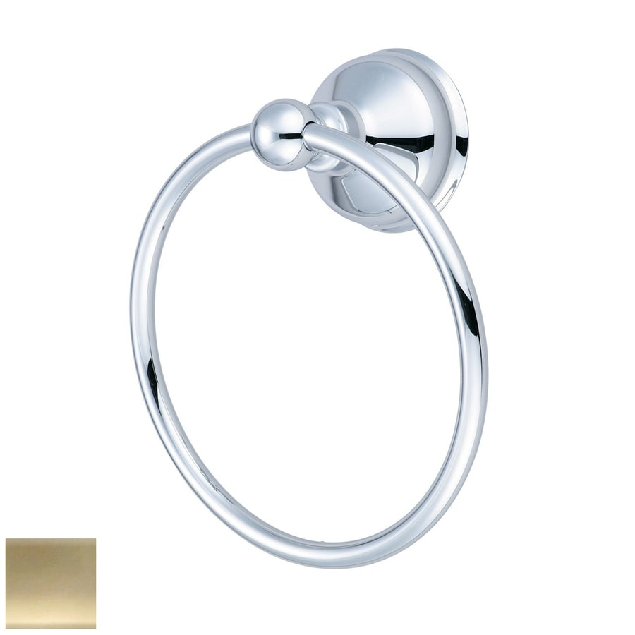 Pioneer Industries Americana Polished Brass Wall Mount Towel Ring