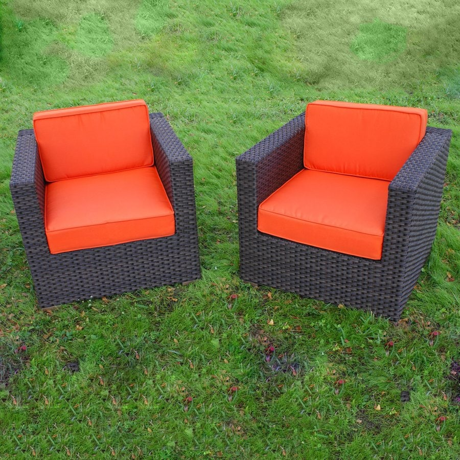 International Home Atlantic 2-Count Wicker Patio Conversation Chairs