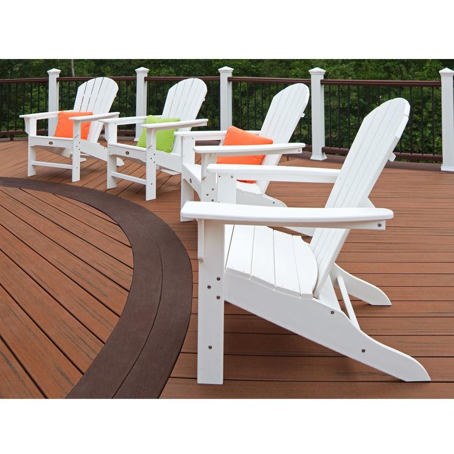 Trex Outdoor Furniture Set Of 4 Cape Cod Classic White Plastic Adirondack  Chair