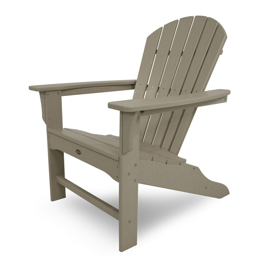 Trex Outdoor Furniture Set of 4 Cape Cod Sand Castle Plastic Adirondack Chair