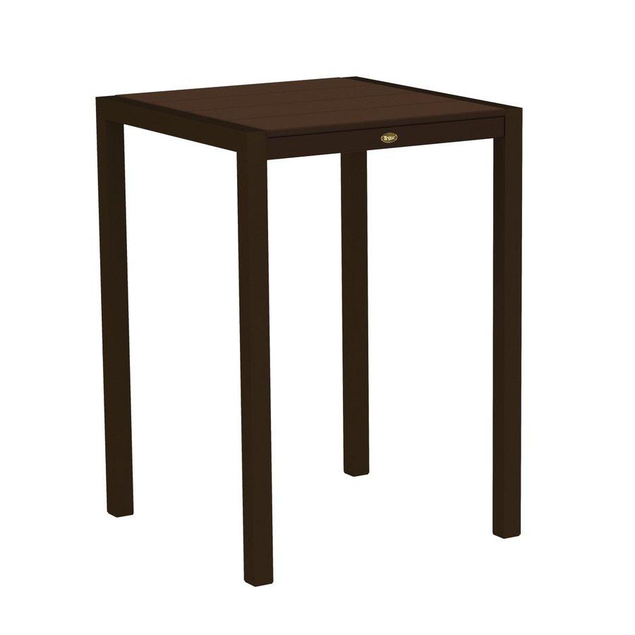 Trex Outdoor Furniture Surf City 29.75-in W x 29.75-in L Textured Bronze/Vintage Lantern Square Aluminum Bistro Table
