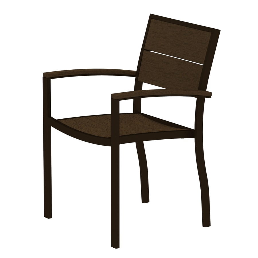 Trex Outdoor Furniture Surf City Textured Bronze/Tree House Aluminum Patio Dining Chair