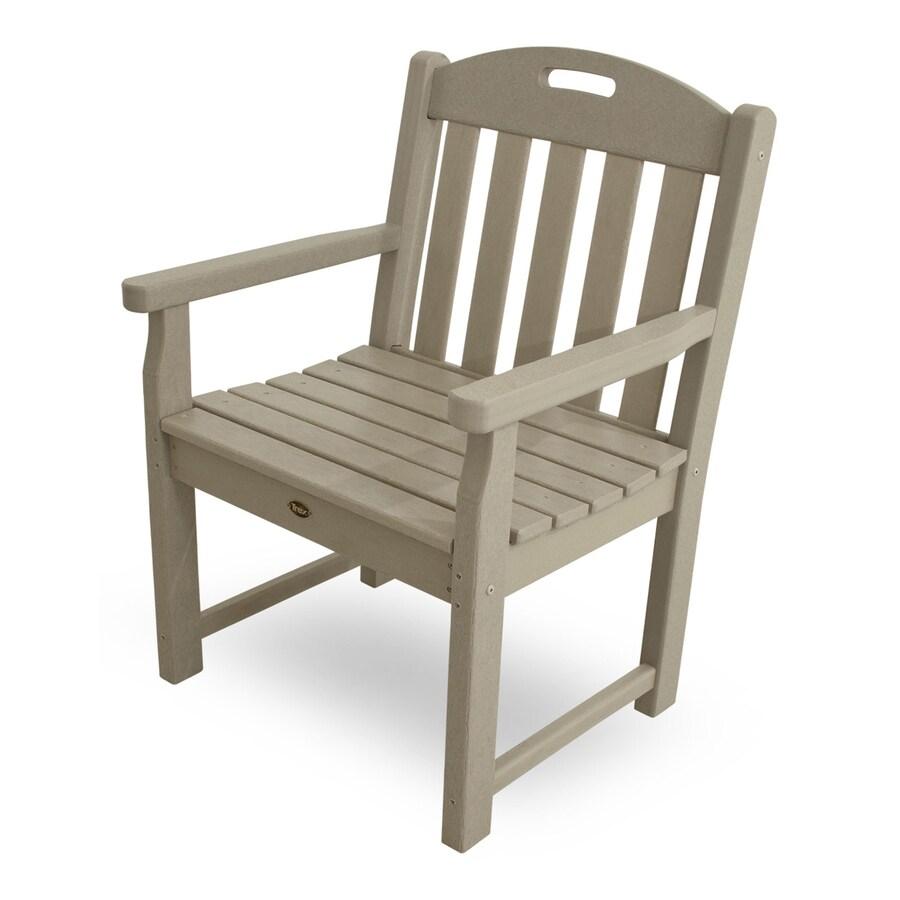 Trex Outdoor Furniture Yacht Club Sand Castle Plastic Patio Conversation Chair
