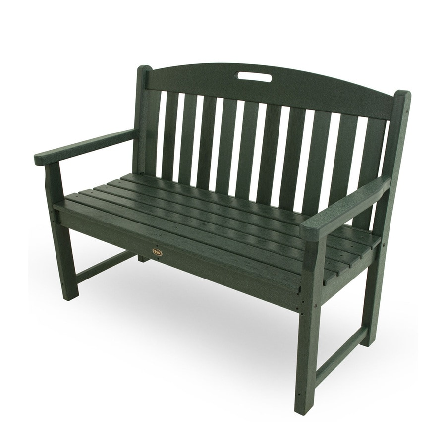 Trex Outdoor Furniture Yacht Club 24.25-in W x 47.5-in L Rainforest Canopy Plastic Patio Bench
