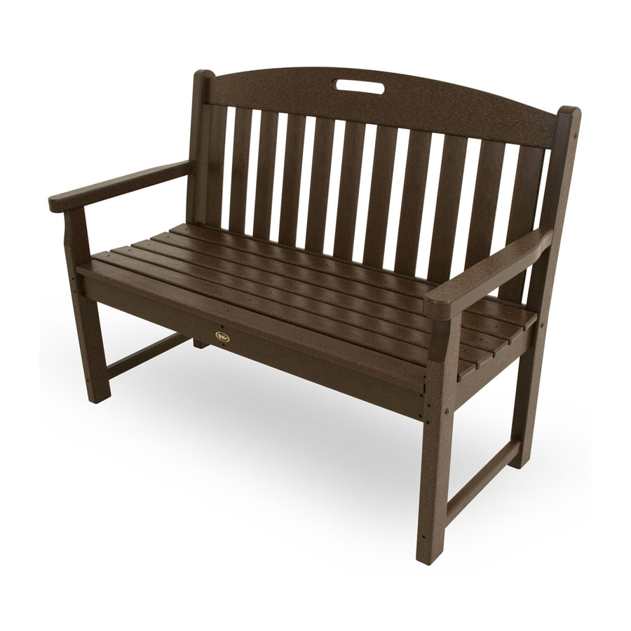 Trex Outdoor Furniture Yacht Club 24.25-in W x 47.5-in L Vintage Lantern Plastic Patio Bench