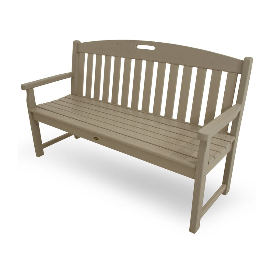 Trex Outdoor Furniture Yacht Club 24.25-in W x 59.5-in L Sand Castle Plastic Patio Bench