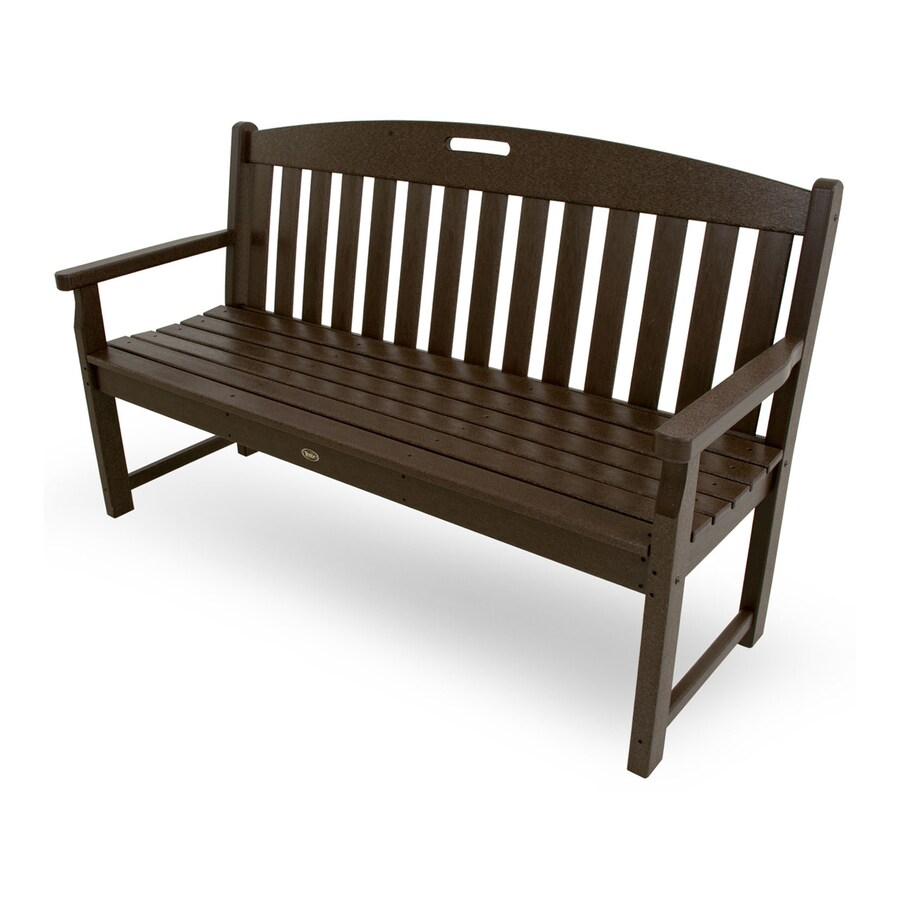 Trex Outdoor Furniture Yacht Club 24.25-in W x 59.5-in L Vintage Lantern Plastic Patio Bench