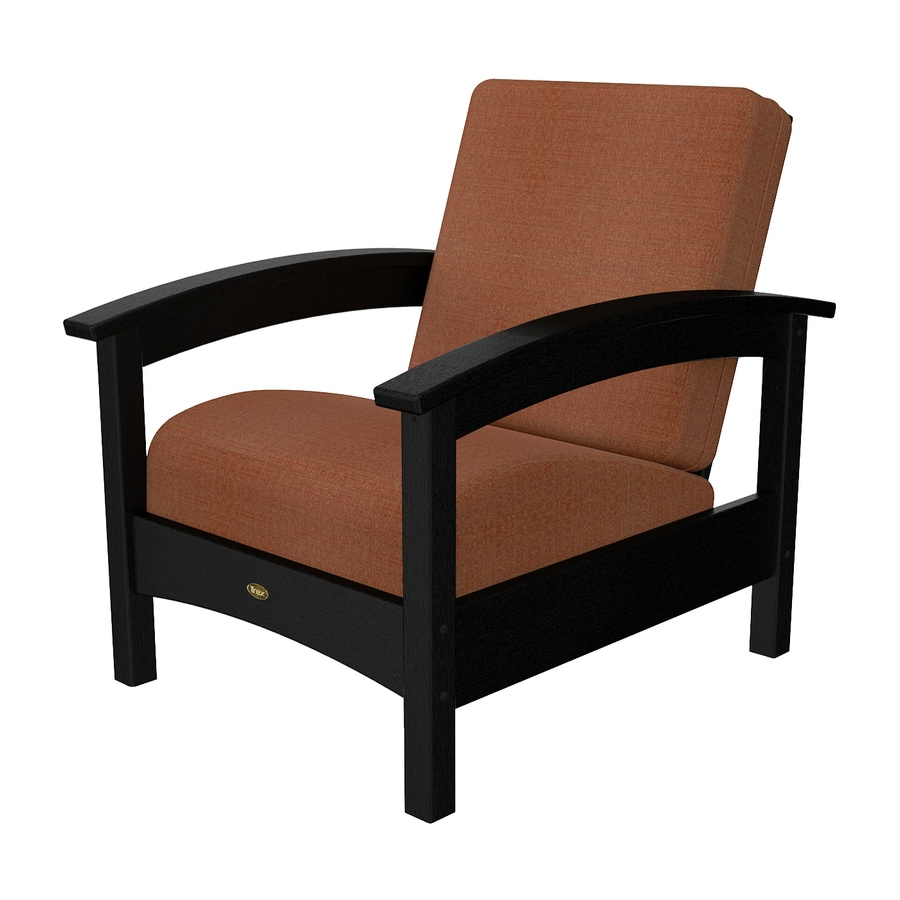 Trex Outdoor Furniture Rockport Charcoal Black Plastic Patio Conversation Chair