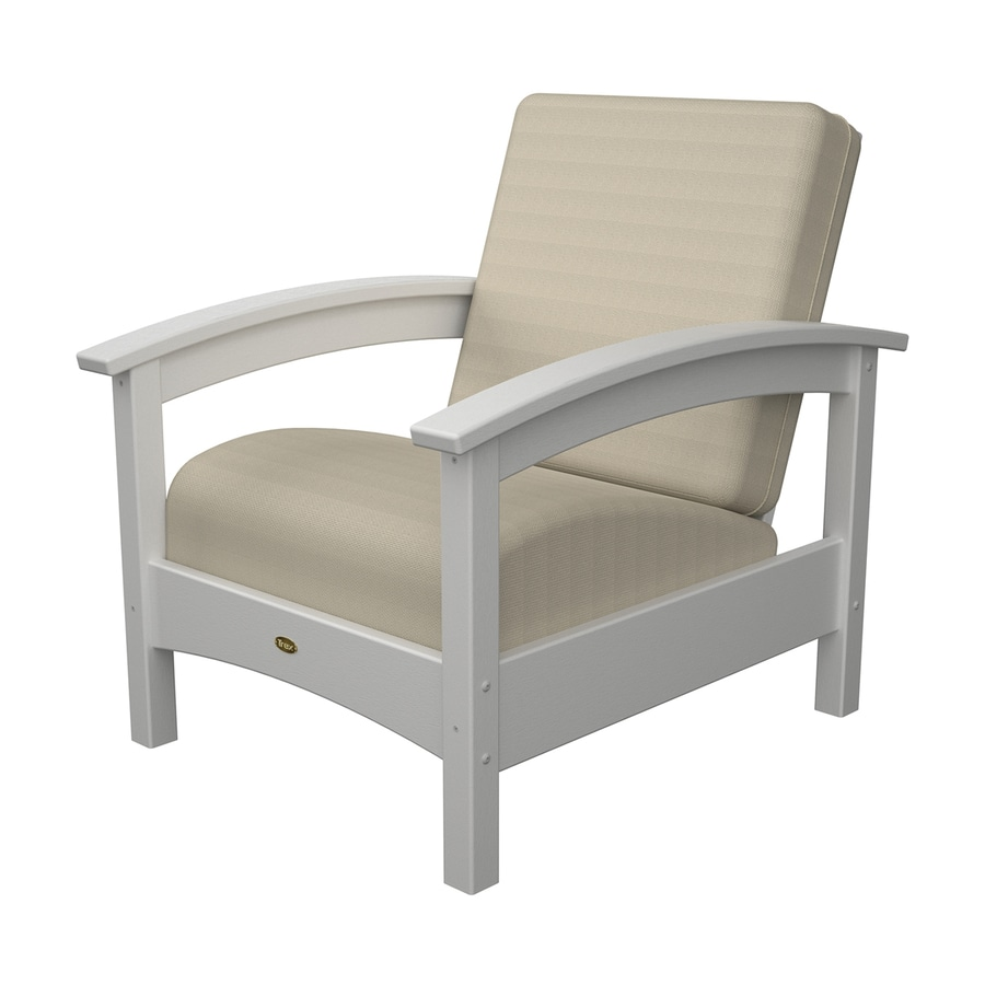 Trex Outdoor Furniture Rockport Classic White Plastic Patio Conversation Chair