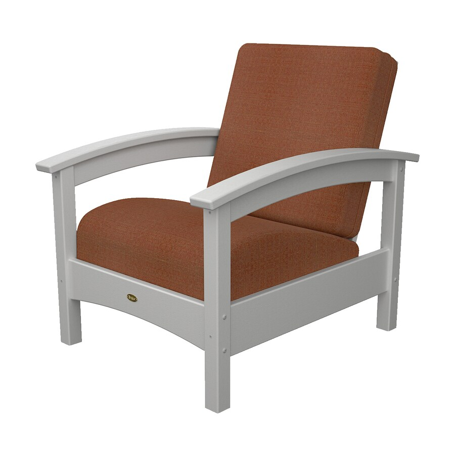 Shop Trex Outdoor Furniture Rockport Classic White Plastic Patio Conversation Chair At
