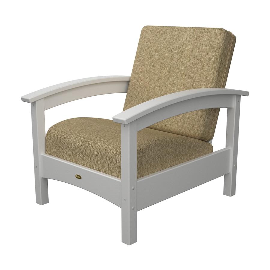 Trex Outdoor Furniture Rockport Classic White Plastic Patio Conversation Chair