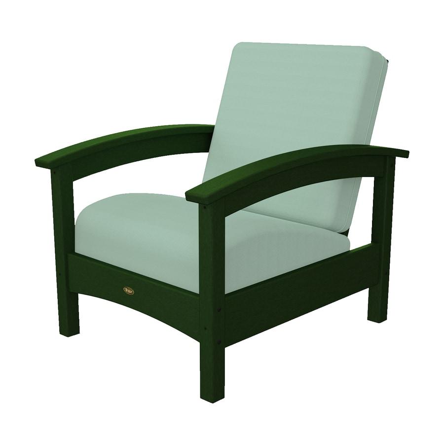 Trex Outdoor Furniture Rockport Rainforest Canopy Plastic Patio Conversation Chair