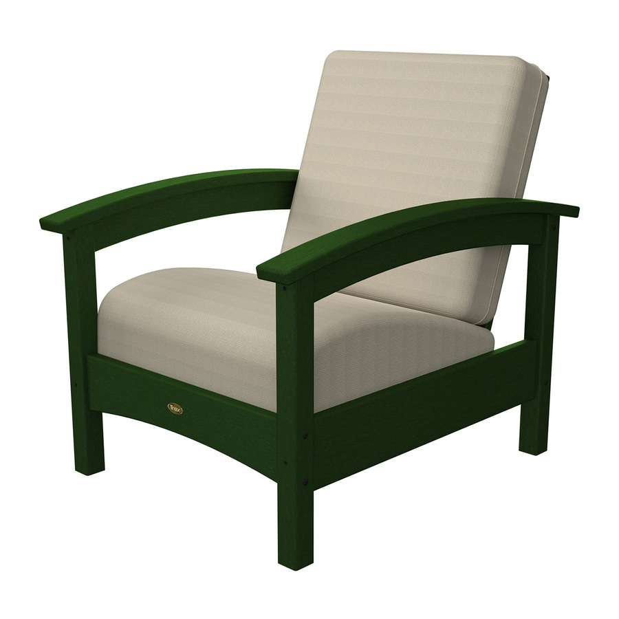 Trex Outdoor Furniture Rockport Rainforest Canopy Plastic Patio Conversation Chair
