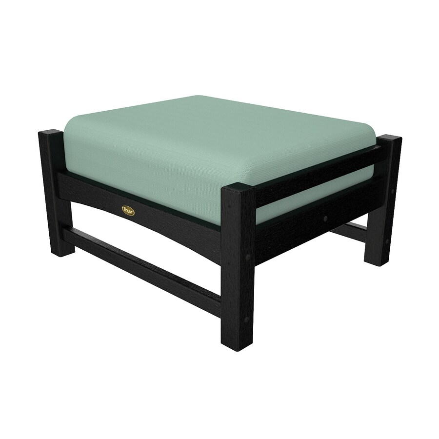 Trex Outdoor Furniture Rockport Charcoal Black/Canvas Spa Plastic Ottoman