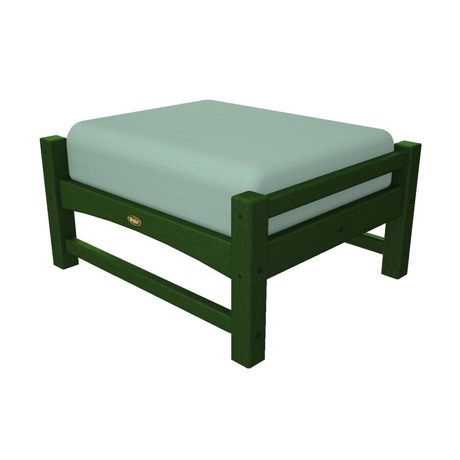 Trex Outdoor Furniture Rockport Rainforest Canopy/Canvas Spa Plastic Ottoman