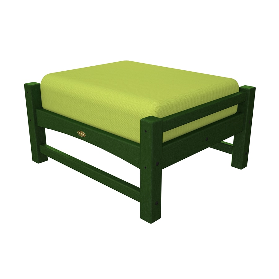 Trex Outdoor Furniture Rockport Rainforest Canopy/Canvas Macaw Plastic Ottoman
