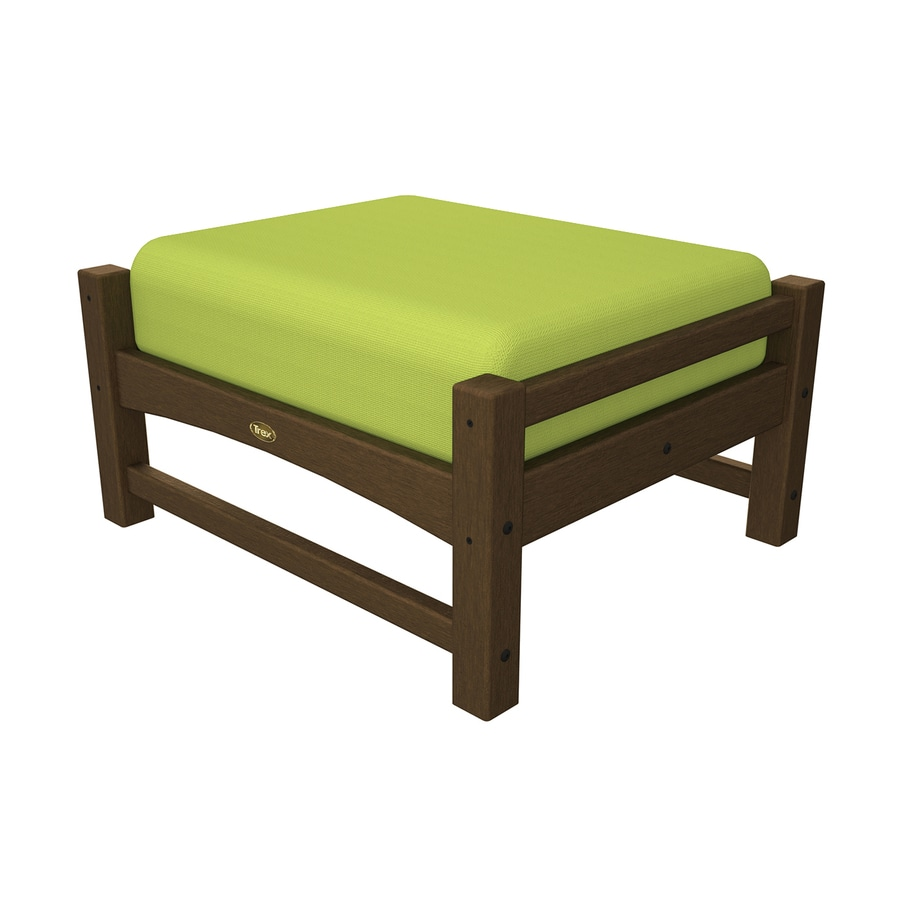 Trex Outdoor Furniture Rockport Tree House/Canvas Macaw Plastic Ottoman