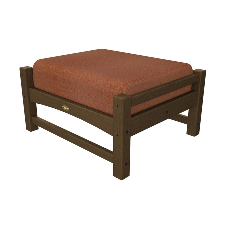 Trex Outdoor Furniture Rockport Tree House/Linen Chili Plastic Ottoman