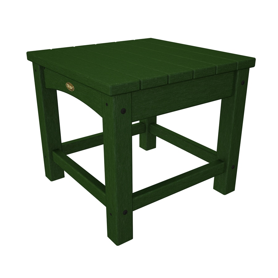 Trex Outdoor Furniture Rockport 17.75-in W x 17.75-in L Rainforest Canopy Square Plastic End Table
