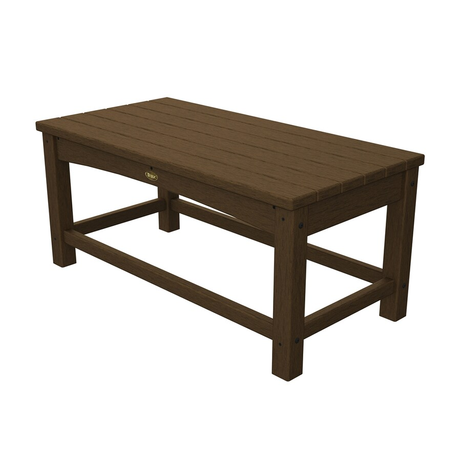 Trex Outdoor Furniture Rockport 17.75-in W x 35.5-in L Tree House Rectangle Plastic Coffee Table