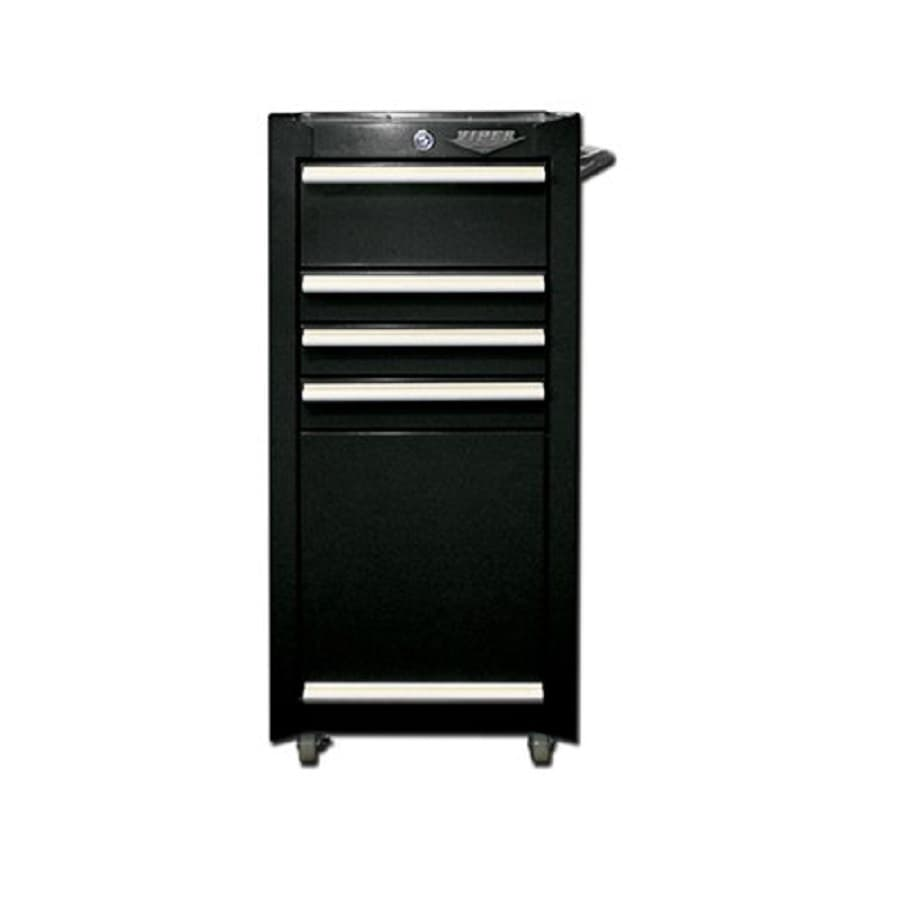 Viper Tool 36.5-in x 18-in 4-Drawer Ball-Bearing Steel Tool Cabinet (Black)