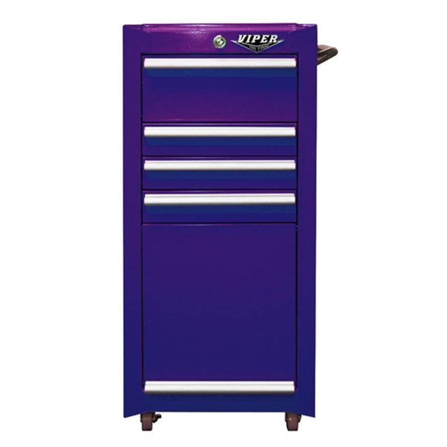 Viper Tool 36.5-in x 18-in 4-Drawer Ball-Bearing Steel Tool Cabinet (Purple)