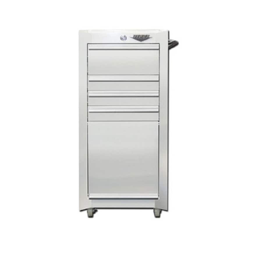 Viper Tool 36.5-in x 18-in 4-Drawer Ball-Bearing Steel Tool Cabinet (White)