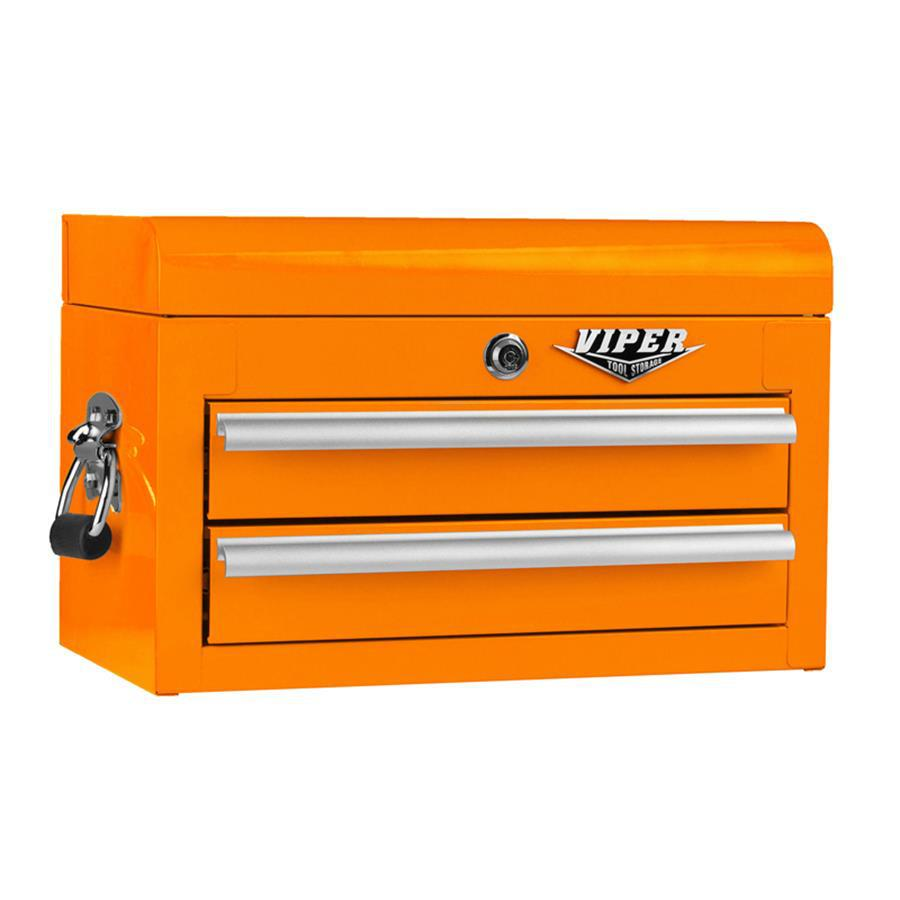 Viper Tool 11.5-in x 18-in 2-Drawer Ball-Bearing Steel Tool Chest (Orange)