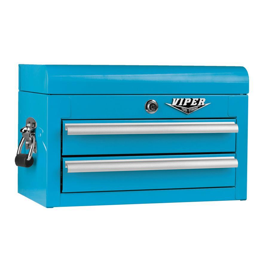 Viper Tool 11.5-in x 18-in 2-Drawer Ball-Bearing Steel Tool Chest (Blue)