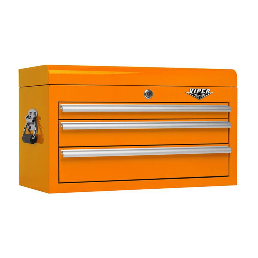 Viper Tool 15.313-in x 26-in 3-Drawer Ball-Bearing Steel Tool Chest (Orange)
