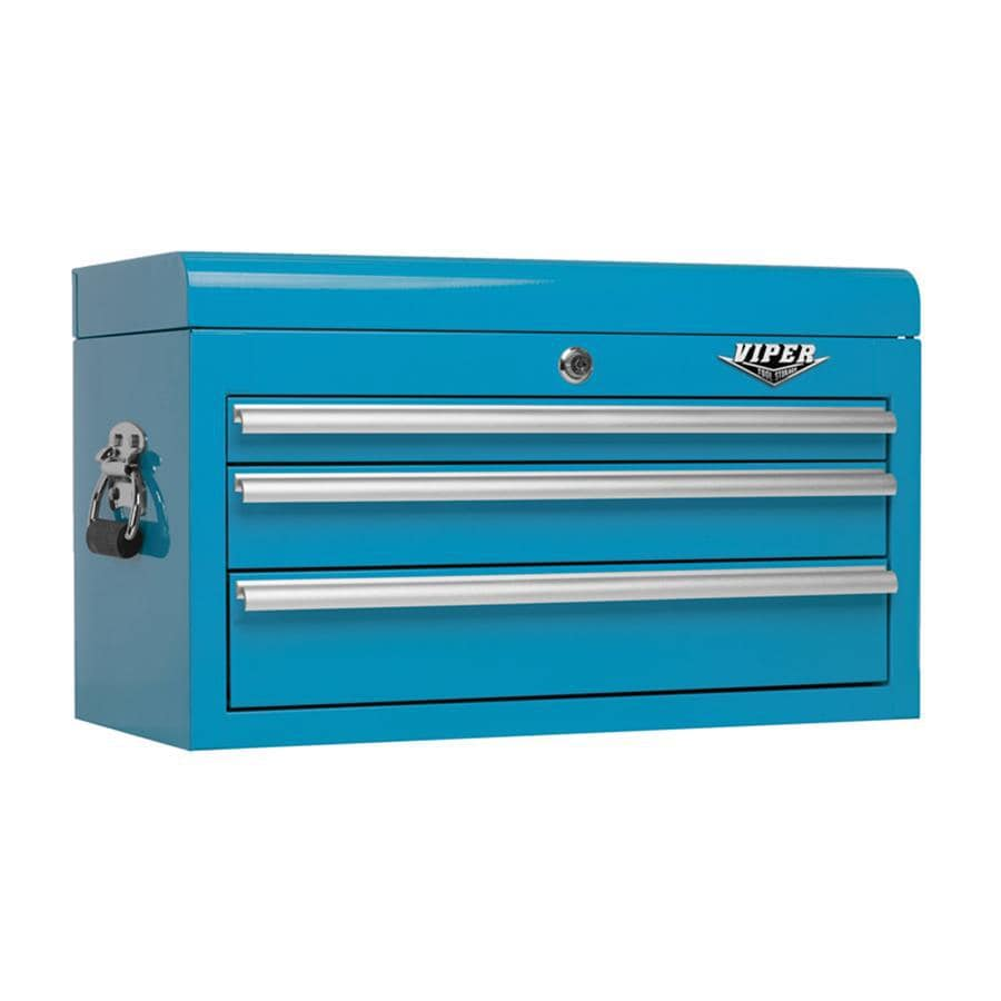 Viper Tool 15.313-in x 26-in 3-Drawer Ball-Bearing Steel Tool Chest (Blue)