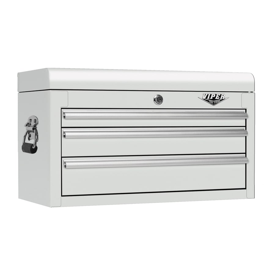 Viper Tool 15.25-in x 26-in 3-Drawer Ball-Bearing Steel Tool Chest (White)