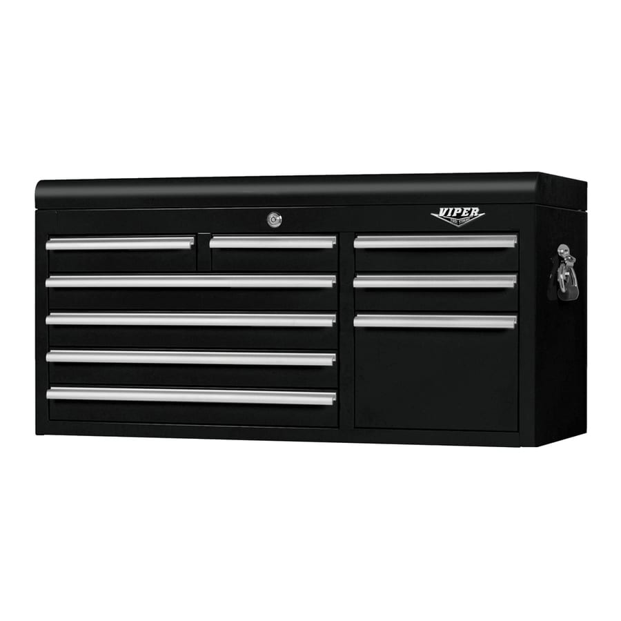 Viper Tool 20.4-in x 41-in 9-Drawer Ball-Bearing Steel Tool Chest (Black)
